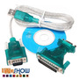 Kit 05 Cabos Adaptador Conversor Usb Serial Rs232 Paralelo