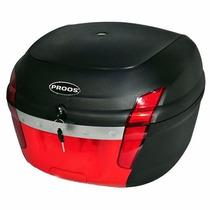 Bau Moto Bauleto Para Bagageiro 34 Litros Proos - Vermelho