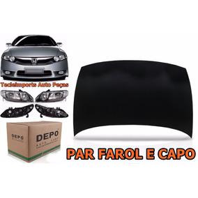 Capo New Civic 06 07 08 09 10 11 + Par De Farol 1ºlinha Depo