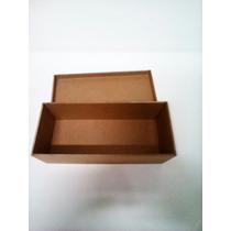 Caixa De Mdf 10,3x24,7x8,6 De Altura Porta Vinho