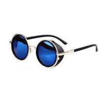Óculos De Sol Redondo Lentes Escuras Google Vintage Steapunk