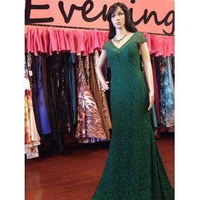 Vestido Fiesta Noche Alta Costura Morell M Talla 6 $480 Dlls