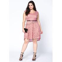 Vestido Em Renda Feminino Plus Size Mullet