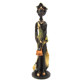 Africana Charmosa Estatueta Resina Decoração Frete Grátis