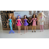 Lote 5 Barbie Oficinista Sirena Rubia Peliroja Semiarticulab