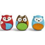 Set De 3 Sonaja Bebe Juguete Plastico Animales Skip Hop