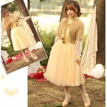 Tsuki Moda Asiatica: Falda Corta Tul Elegante Princesa Hada