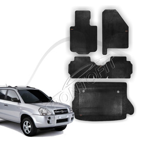 Kit De Tapete Hyundai Tucson Borcol Borracha