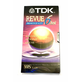 Cassette Video Vhs Virgen Tdk Nuevo T-120
