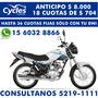 Motomel Cg 150 S2 Anticipo Y 36 Cuotas Fijas En Pesos
