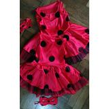 Disfraz Ladybug Vestido Para Niñas Confeccionado A Medida