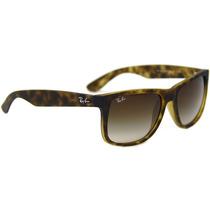 Óculos De Sol Ray Ban Justin Unissex Tartaruga E Lentes Marr