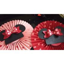 Hermosos Abanicos De Minnie Y Mickey Mouse Para Fiestas