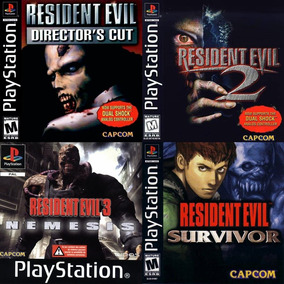 [ps1] Saga Resident Evil Para Playstation 1 (4 Juegos)