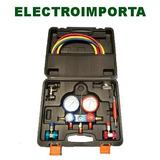 Manifold Con Caja Valija Refrigeración Electroimporta