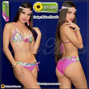 Traje Baño Damas Ultima Moda 2017 Bikinis Tejidos Mayor
