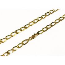 Corrente Masculina Prata 950k, Banhado A Ouro.