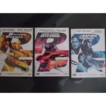 Trilogia De Peliculas Rapido Y Furioso Dvd