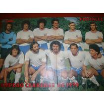 Poster Fortaleza Campeão Cearense De 1974 Placar