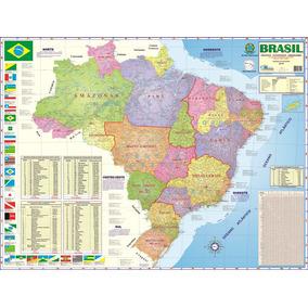 Mapa Dobrado Brasil Político - Estatistico - Rodoviario 2016