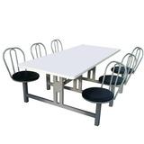 Mesa Refeitório 10 Cadeiras Giratórias E Assento Em Fórmica