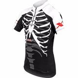 Camisa Ciclismo Infantil Esqueleto