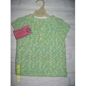 Chaleco Swater Crochet Tejido Para Bebe