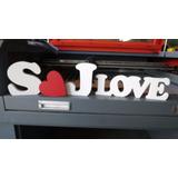 Kit 3 Letras + Love Mdf 18mm Mesa Palavra Casamento Iniciais