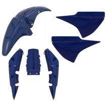 Kit Carenagem Honda Titan Cg150 2007 Azul Myth Metalico