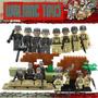 Set 8 Soldados Segunda Guerra Mundial Lego Compatible.