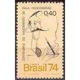 Selo Brasil,person Centenário Raul Pederneiras 1974,novo.