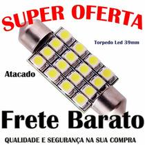 Lampada Automotiva Torpedo39mm 12/16 Leds Luz Teto Do Celta