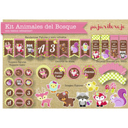 Kit Animales Del Bosque Nena