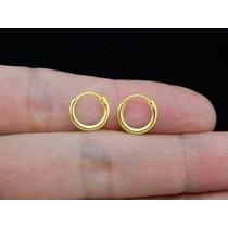 Promoção Brinco Argola Prata 925 Folheada Ouro 18k Com 1cm