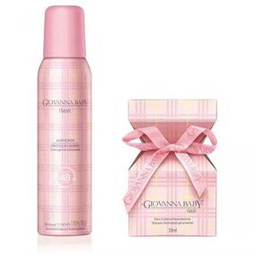 Kit Deo Colônia E Desodorante Aerosol Giovanna Baby Rosa