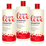 Kit 3 Shampoo Alisante Liso Extremo Is My Love 500ml
