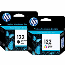 Kit De Cartucho Hp 122 Preto + Color Original