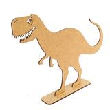 Dinossauro T-rex 20 Cm De Altura - Mdf Crú - Enfeite De Mesa
