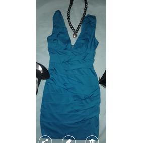 Hermoso Vestido Azul Turquesa Talla Chica