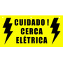 Placa Pvc Cerca Elétrica 20x10cm