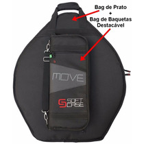 Bag De Pratos + Bag De Baqueta Brinde Soft Case Move Serie