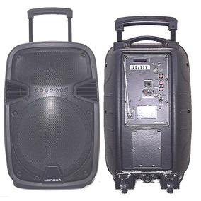 Caixa De Som Ativa Bluetooth Usb Fm Microfone Sem Fio 1200w