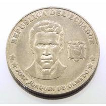 Moeda De 20 Centavos Do Equador 2000 Em Niquel M0743