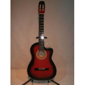 Guitarra Acustica De Paracho Rojo Con Negro Tipo Requinto