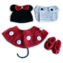 Conjunto Tejidos A Crochet Disfraz Bebes Para Book De Fotos