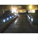 30 Estacas Farol Luz Led C/panel Solar Jardin Envio Gratis