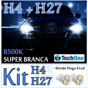 Kit Lâmpada Super Branca H4 + H27 + T10 Led Tucson 13 À 17
