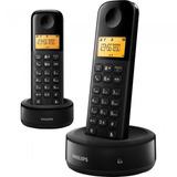 Telefone Sem Fio Philips Com Base + Ramal Com Id D1302b/55