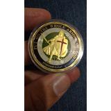 Medalha Cavaleiro Templário Banhada A Ouro