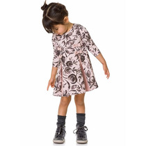 Vestido Infantil Inverno Cotton Rosa | Brandili Mundi